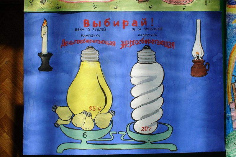 Рисунок на тему энергосбережение глазами детей